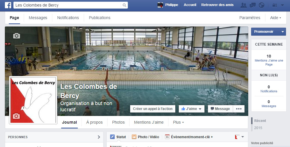 "Page Facebook ""Les Colombes de Bercy"""