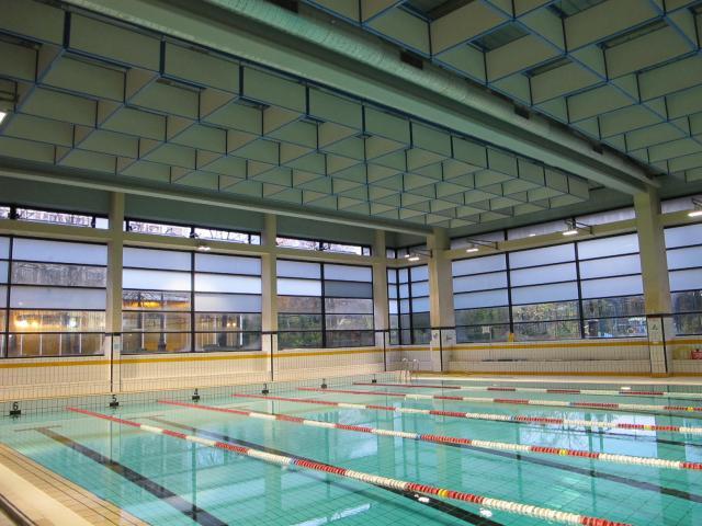 Nouveaux caissons plafond bassin